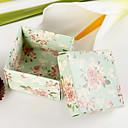 caixa quadrada com peônia favor padrão (conjunto de 12)