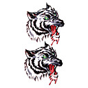 5 Pcs Wolf Waterproof Temporary Tattoo(17.5cm*10cm)