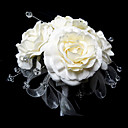 Elegant Round Shape Satin/ Crystal Wedding Bridal Bouquet