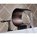 antieke olie gewreven brons wijdverspreide waterval badkamer wastafel kraan