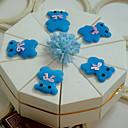 mignon ours blanc boîte de faveur gâteau (jeu de 10)