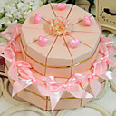 Pink Heart Cake Favor Box (Set of 20)