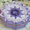 pastel de color lila a favor caja (juego de 10)