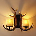 Wall Light with 2 Lights in Antlers Feature