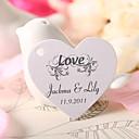 personlig hjerteformede favør tag - kjærlighet (sett av 60)