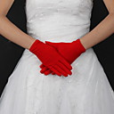 Håndledslængde Handske Fingerdupper Brudehandsker Silke