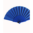 royal blue silk Hand Fans (6er Set)