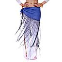 dancewear de poliéster con lentejuelas / rendimiento borlas cinturón de danza del vientre para las damas más colores
