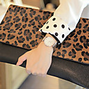 Trendy Envelope Ladies' Leopard PU Clutch