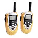 talkie walkie mini-22-canal (gamme 5km, 2-pack, jaune)