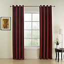 (Two Panels) Classic Red Solid Energy Saving Curtain