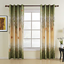 (One Panel)Green Maple Leaf Energy Saving Curtain