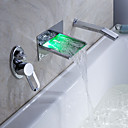 Sprinkle® door Lightinthebox - LED waterval badkraan met uittrekbare handdouche (wandmontage)