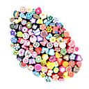 100pcs 3D Cane Stick Rod Sticker Nail Art Decorations(Random Color)