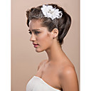 Headpieces Tulle Gorgeous White Feather Rhinestone For Bridal