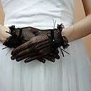 Luvas Fingertips belas spandex arrastão comprimento de pulso luvas de noite / festa