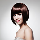 Capless Short Bob High Quality Synthetic Dark Brown Straight Hair Wig
