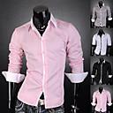 Men's Contrast Color Neck Shirt