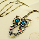 Women's Vintage Owl Pendant Necklace