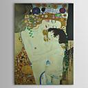 Mother and Child (dettaglio dei tre età della donna) C1905 da Quality Gustav Klimt Museo con lamina d'oro