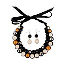 lint resin vrouwen kraal choker set (incl.earrings)