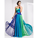 Prom / Military Ball / Formal Evening Dress - Blue/Green Ombre Plus Sizes / Petite A-line Strapless / Sweetheart Floor-length Chiffon