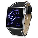 Unisex 29 Blue LED Display Digital Wrist Watch (Black)