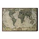 Imprimé Art Carte du monde de cru Linge 1212-0149