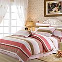4-Piece Colorful Stripe Duvet Cover Set