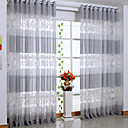 Country Leaf Sheer Curtain (Two Panels)