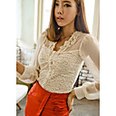 Women's Lace Shirt Short Sleeve Lace/Mesh