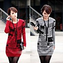 YiLianGe Newspaper Print Loose Big Size Thicken Sweater