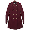 Women's Coat , Work Long Sleeve Tweed