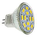 6W GU4(MR11) Spot LED MR11 12 SMD 5730 570 lm Blanc Chaud DC 12 V