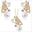 Jewelry Set Women's Anniversary / Birthday / Daily Jewelry Sets Alloy Crystal / Rhinestone Necklaces / Earrings
