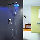 Sprinkle®  Brusehaner LED / Vandfald with Krom Enkelt Håndtag Fire Huller