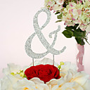 Cake Topper Non-personalized Chrome Wedding / Anniversary / Quinceañera & Sweet Sixteen / Birthday Rhinestone