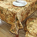 Kaki Polyester Nappes de table