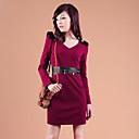 Zhi Yuan spallina Decor Cuoio Dress Splicing (più colori)