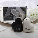 Керамическая в форме сердца сольница; Перечница Свадебный набор из 2 шт.