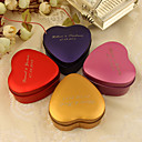Personalized Heart Shaped Favor Tin - Set of 24(More Colors)