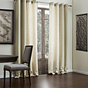 (Two Panels) Faux Solid Linen Classic Eco-friendly Curtain