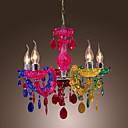 artistiques lampes suspendues acrylique avec chrome 5 lumières fini arc-en-conception