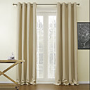 (One Panel) Solid Beige Classic Blackout Curtain