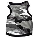 Cani T-shirt-Estate Camouflage / Cuori-Bianco- diCotone