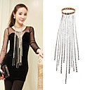 Women's Long Tassels Leather Necklace