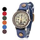 Kvinders Eiffeltårnet Style Analog Læder kvarts armbåndsur (assorterede farver)