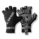 SPAKCT S13G03 Durable Polyester and Vinylal Materials Half Finger Gloves Design for Cycling Bicycle_Black
