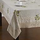 Beige Linen Rectangular Table Cloths