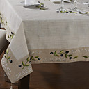 Classique lin blanc Olive Branch Nappes
